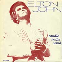 Elton John Candle In The Wind Live Single Cover 1987