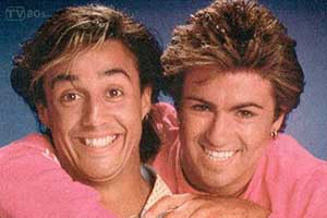 George Michael Andy Ridgeley Wham 80s