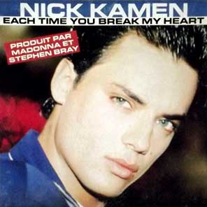 Nick Kamen Each Time You Break My Heart Singles Cover