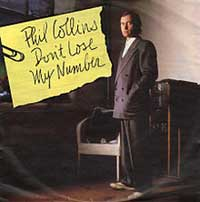 Phil Collins Don't Lose My Number Single Cover