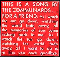 The Communards - For A Friend - Single Cover