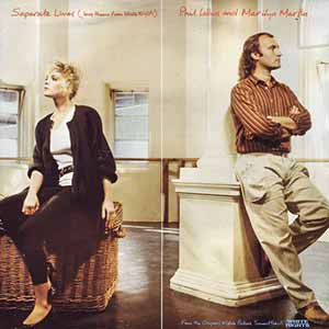 Phil Collins Marilyn Martin Separate Lives Single Cover
