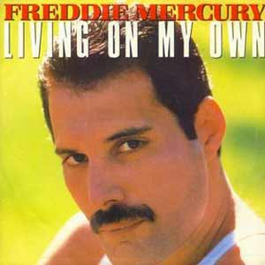Freddie Mercury - Living On My Own  - single cover - 1985