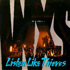 INXS Listen Like Thieves Single Cover