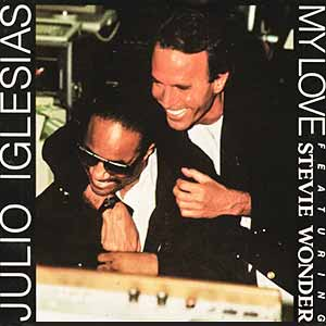 Julio Iglesias Stevie Wonder My Love Single Cover