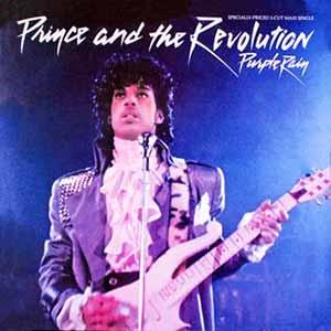 Prince and The Revolution Purple Rain Single Cover