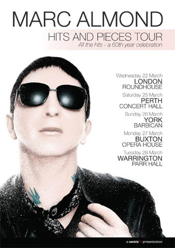 Marc Almond Soft Cell Hits And Pieces Compilation UK Tour