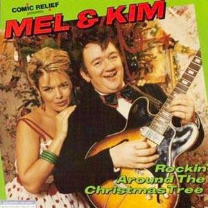 Mel Smith & Kim Wilde - Rockin' Around The Christmas Tree single cover