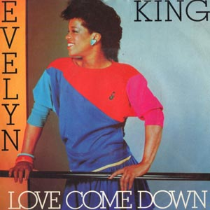 """Evelyn """"Champagne"""" King - Love Come Down - single cover"""