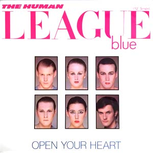 The Human League - Open Your Heart - Single Cover