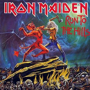 Iron Maiden - Run To The Hills - Single Cover