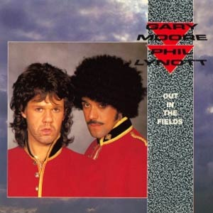 Gary Moore & Philip Lynott - Out In The Fields - Single Cover