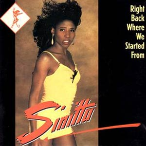 Sinitta - Right Back Where We Started From - Single Cover