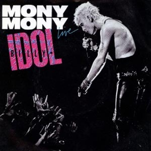 Billy Idol Mony Mony Single Cover