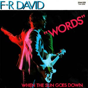 F-R David Words Single Cover