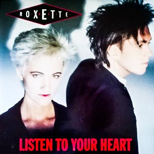 Roxette Listen To Your Heart Single Cover