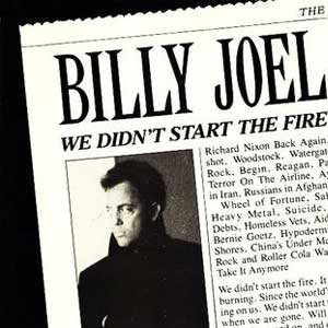 Billy Joel We Didn't Start the Fire Single Cover