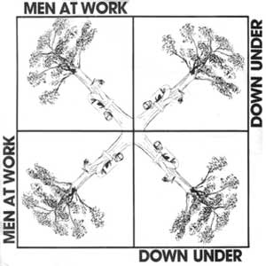 Men At Work Down Under Single Cover
