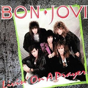 Bon Jovi Livin on a Prayer single cover