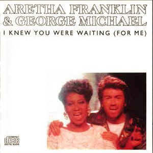 Aretha Franklin and George Michael I Knew You Were Waiting (For Me) Single Cover