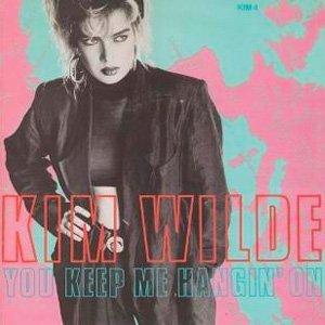 Kim Wilde You Keep Me Hangin' On Single Cover