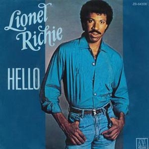 Lionel Richie Hello Single Cover