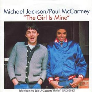Michael Jackson and Paul McCartney The Girl Is Mine Single Cover