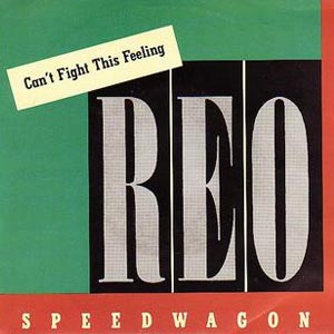 REO Speedwagon Can't Fight This Feeling single cover
