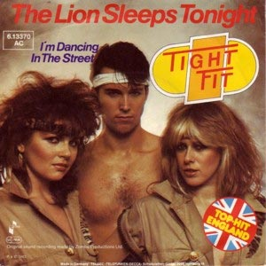 Tight Fit The Lion Sleeps Tonight Single Cover