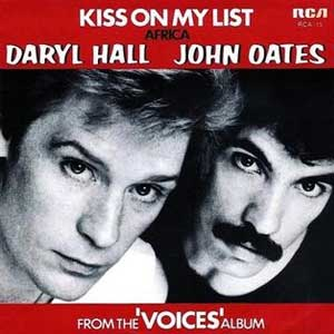 daryl hall john oates kiss on my list single cover