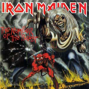 iron maiden number of the beast album cover