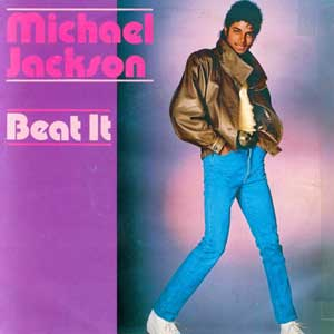 Michael Jackson Beat It Single Cover