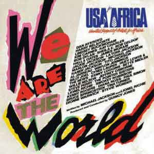 USA for Africa We Are The World Single Cover