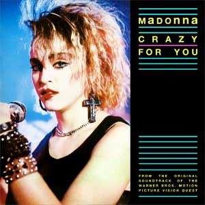 Madonna Crazy For You Single Cover