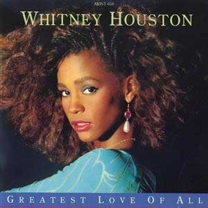 Whitney Houston Greatest Love Of All Single Cover