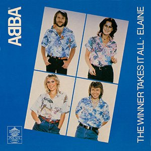 Abba The Winner Takes It All Single Cover