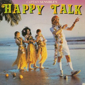 Captain Sensible - Happy Talk - Single Cover