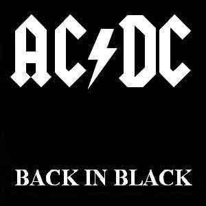 AC/DC - Back In Black - Single Cover