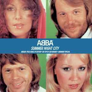 Abba - Summer Night City - Single Cover